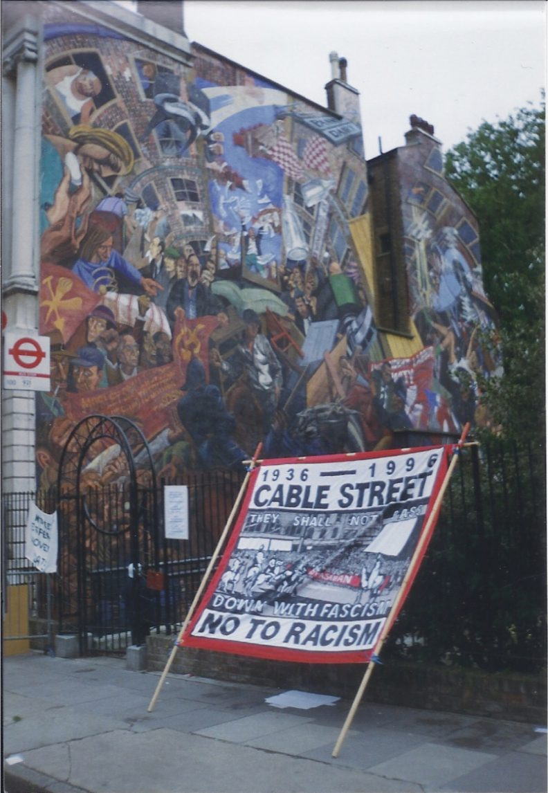 The famous Cable St mural depicting the Battle of Cable Street