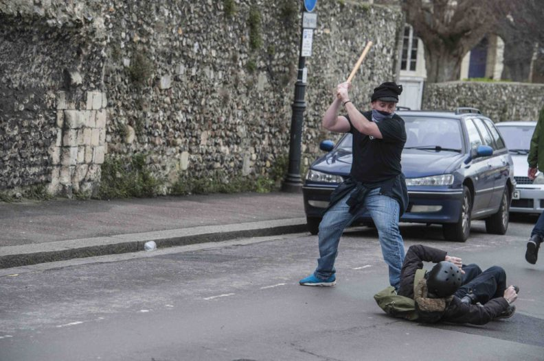 Nazi Peter Atkinson attempts to murder anti-fascist photographer Kelvin Williams in Dover on 30 January 2016