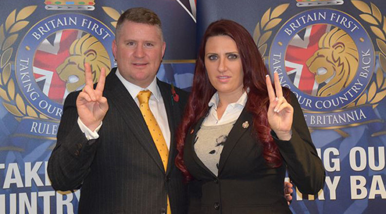 Paul Golding and Jayda Fransen