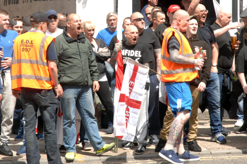 Fifty seven EDL supporters sought police protection. The other three were too drunk to join the failed march