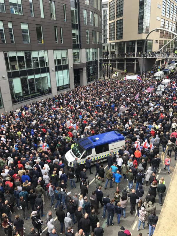 Racists and fascists on the march in Manchester, Sunday 11 June 2017