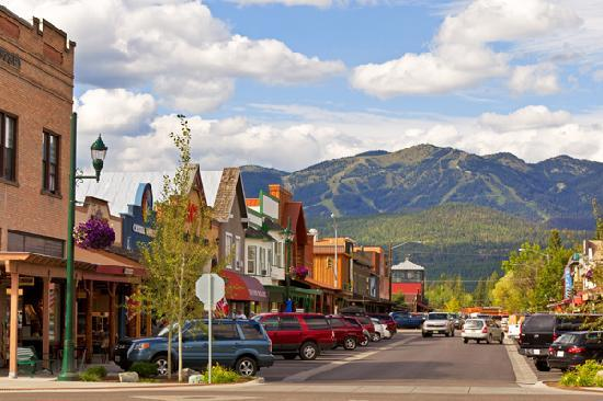 Whitefish, Montana: a beautiful town spoiled only by Spencer's HQ. Local residents have protested against his presence