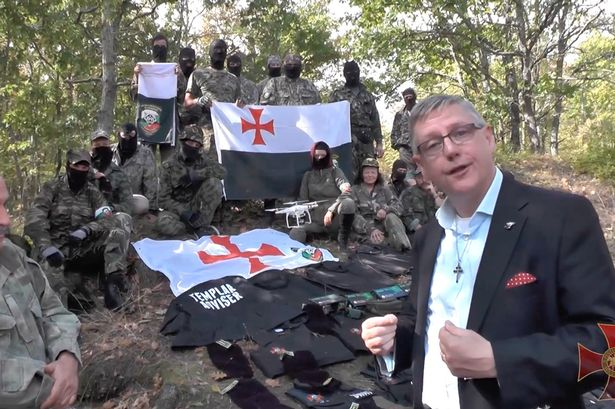 Britain First founder Jim Dowson was filmed with the Shipka Bulgarian National Movement [Photo: Daily Record]