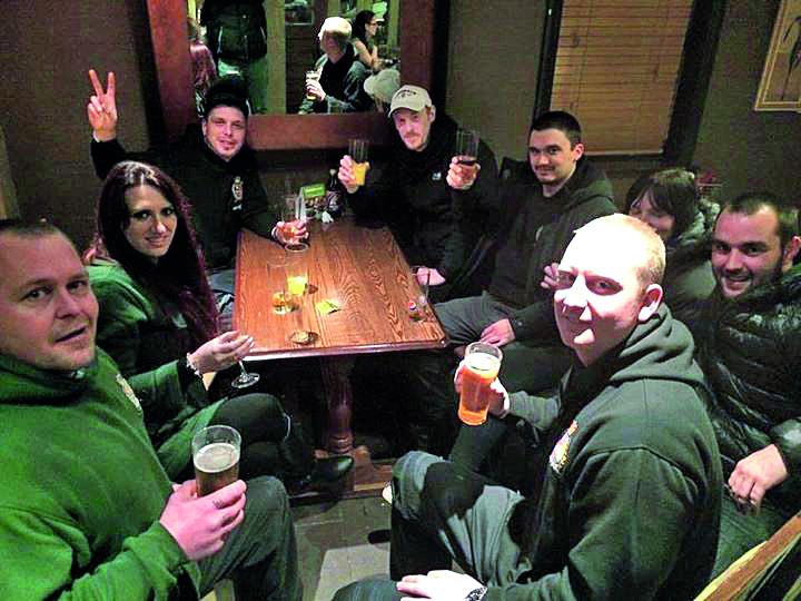Jayda Fransen with her Britain First fascist friends