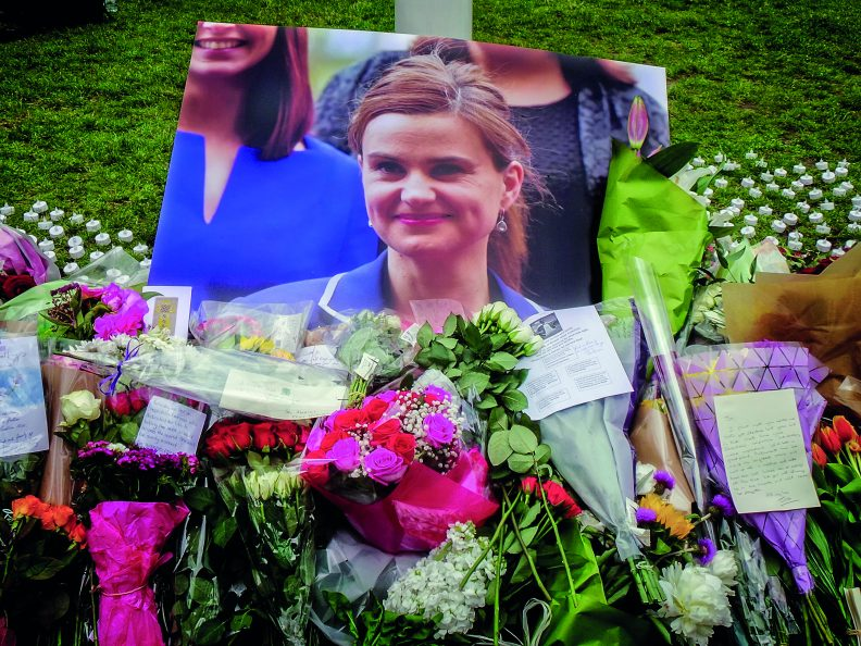 Photos taken at the memorial site for Jo Cox MP at Parliament Square in London. Photo: Garry Knight